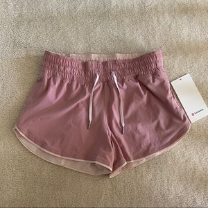🔴NWT lululemon Choose A Side shorts Pink Taupe